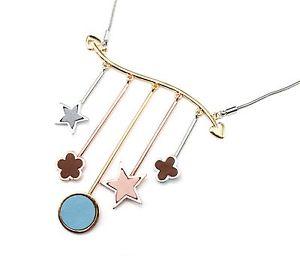 【送料無料】ネックレス ネックレスペンダントcc1665e collier plastron pendentif multibarres avec charms cercle etoiles