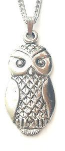 【送料無料】ネックレス イギリスペンダントchouette pendentif fabriqu la main en tain massif au royaumeuni gratuit