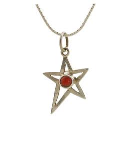 【送料無料】ネックレス エトワールpendentif pentagramme etoile en argent corail bijou peterandclo 5193