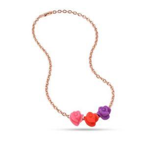 【送料無料】ネックレス オロローザシリコンピンクドロップcollana donna morellato colours sabz193 alluminio oro rosa silicone drops rose