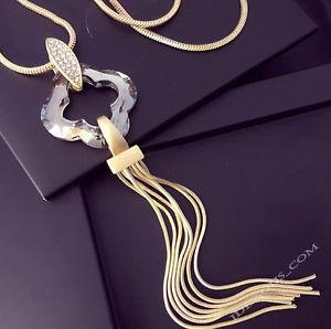 送料無料 ネックレス ペンダントマッシフクランプcollier pour femmes bijoux pendentif en or 75cm long massif de luxenv80Nwm