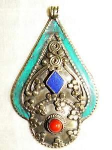 【送料無料】ネックレス ネパールチベットアートnepal tibetan art handmade pendant colgante tibetano anhnger ciondolo