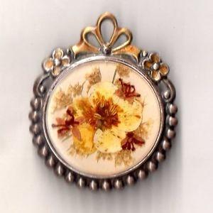 【送料無料】ネックレス ピンアールデコビンテージbroche art deco vintage fleur naturel sechee annee 60