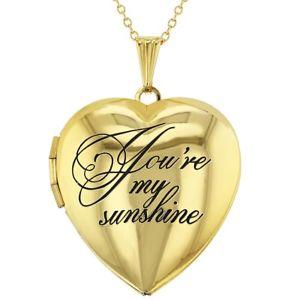 【送料無料】ネックレス マイサンシャインメダイヨンネックレスハートペンダントyoure mon sunshine amour photo de famille collier mdaillon coeur pendentif