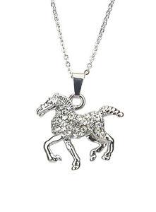 【送料無料】ネックレス クリップcollier cheval argent strass par ella jonte collier court cheval horse pendentif