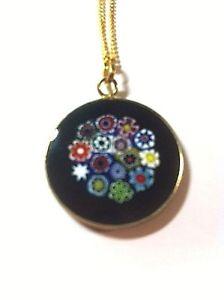 【送料無料】ネックレス ベニスチェーンムラーノmurano collier murine de venise 23 mm avec chaine