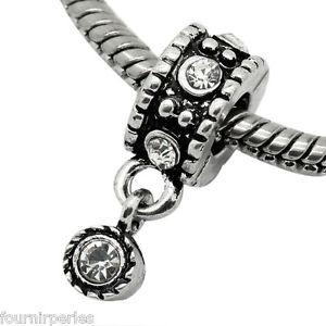 【送料無料】ネックレス ペンダントブレスレット50 pendentifs fp charms strass transparent motif pr bracelet charms 21x10mm
