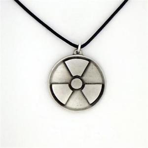 【送料無料】ネックレス クリップtain anglais radioactifs collier mise en garde symbole