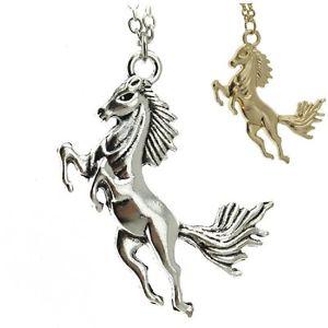 【送料無料】ネックレス クランプゴールドシルバーcheval pendentif stute talon collier or ou argent color