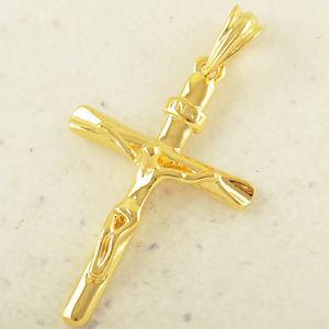【送料無料】ネックレス コンラルゴカデナcolgante cruz cristo con cadena de 45 cm largo 18 kgf envio gratis