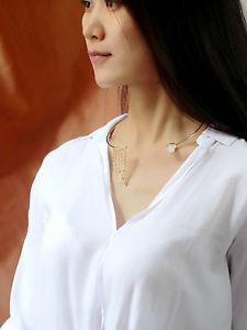 【送料無料】ネックレス ネックレスフリンジタッセルシンプルモダンcollier ras du cou dor rigide pendantif frange tassel moderne simple qt 3