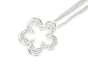 【送料無料】ネックレス ペンダントネックレスファッションシルバーcl268 * sautoir collier pendentif fleur contour strass mode femme argent