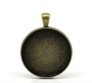 【送料無料】ネックレス ペンダントサポートラウンドカボションブロンズカラー25 pendentifs support cabochon rond couleur bronze 41cm x 33cm b21154