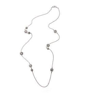 【送料無料】ネックレス ロングネックレスチェーンシルバークリスタルクラスビンテージレトロcollier long sautoir argent chaine etoile cristal class vintage retro myl 1