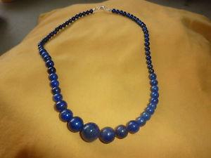 【送料無料】ネックレス ネックレスラピスラズリビーズシルバークラスプcollier lapis lazuli naturelle perles 68101214 mm fermoir argent925