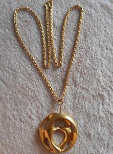 【送料無料】ネックレス ブロンズアーティストヴィンテージrare vintage bijoux d artiste en bronze sign coutelle