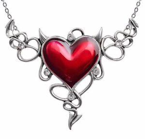 【送料無料】ネックレス ハートクランプゴシックgante vilain amour devil coeur rouge cornes gnreux collier alchemy gothic