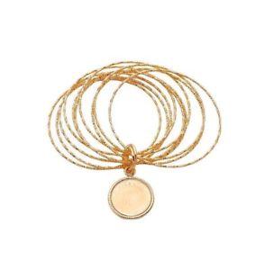 【送料無料】ネックレス コンbracciale con moneta in bronzo dorato collezione golden age passavinti