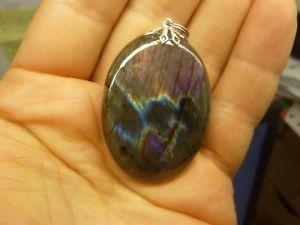 【送料無料】ネックレス ペンダントケースpendentif protection labradorite violet trs rare ref 1594