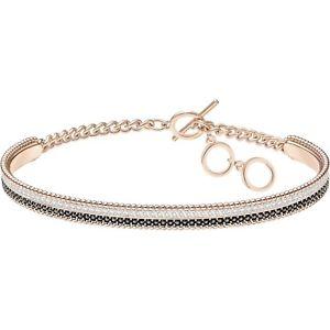 【送料無料】ネックレス スワロフスキーテニスロサブレスレットbracciale swarovski lollypop tennis oro rosa bracelet 5367827 cristalli neri