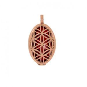【送料無料】ネックレス ペンダントインチステンレススチールaura pendentif fleur de vie l 4cm acier inox ros serti kraftstein