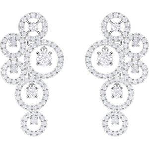 【送料無料】ネックレス スワロフスキービアンコドナイヤリングorecchini swarovski creativity pendenti bianco donna 5414713 earrings cerchi