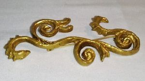 【送料無料】ネックレス ブロンズピンフォームancienne broche en bronze dor de forme libre