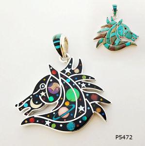 opale cleste ヘブンリーオパールターコイズstupfiant 925 【送料無料】ネックレス vritable argent en turquoise cheval incrustation