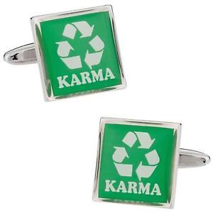 【送料無料】メンズアクセサリ― リサイクルカルカフスボタンカフリンクスrecycling karma cufflinks cuff links