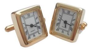 【送料無料】メンズアクセサリ― mensカフスリンクシマメノウロンドンゴールドonyx art london rectangle gold working watch mens cufflinks