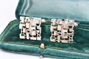 【送料無料】メンズアクセサリ― アールデコヴィンテージスターリングカフスリンクg114vintage sterling silver cufflinks with an art deco design g114