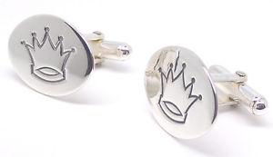【送料無料】メンズアクセサリ― 925スターリングカフスリンクボックスgenuine solid 925 sterling silver crown oval cufflinks quality gift box
