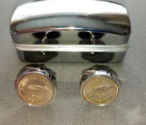 【送料無料】メンズアクセサリ― ニュージーランドコインカフリンクス zealand sixpence coin cufflinks