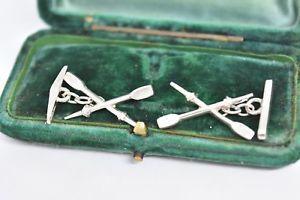 【送料無料】メンズアクセサリ― アールデコオールg190ヴィンテージスターリングカフスリンクvintage sterling silver cufflinks with an art deco rowing oars design g190