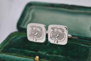 【送料無料】メンズアクセサリ― ヴィンテージアールデコスターリングカフスリンクcmltdb490vintage art deco sterling silver cufflinks engraved bird design by cmltd b490