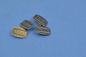 【送料無料】メンズアクセサリ― シルバーアールデコカフリンクスビンテージゴールドイニシャルvintage 9 ct gold on silver art deco period cufflinks engraved initials 5 gr