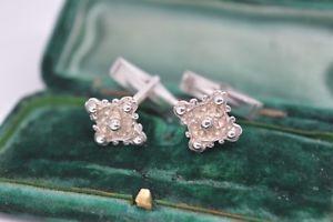 【送料無料】メンズアクセサリ― アールデコヴィンテージスターリングカフスリンクb736vintage sterling silver cufflinks with an art deco design b736