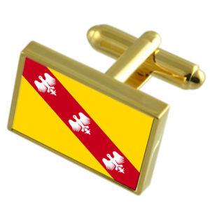 【送料無料】メンズアクセサリ― ロレーヌフランスゴールドフラッグカフスボタンボックスlorraine province france gold flag cufflinks engraved box