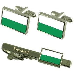 【送料無料】メンズアクセサリ― フラグカフスボタンタイクリップマッチングボックスstyria flag cufflinks engraved tie clip matching box set