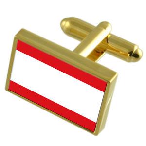 【送料無料】メンズアクセサリ― アントワープシティベルギーゴールドフラッグカフスボタンボックスantwerp city belgium gold flag cufflinks engraved box