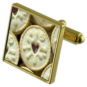 【送料無料】メンズアクセサリ― ハートビスケットカフスボタンクリスタルタイクリップセットjammie heart biscuit goldtone cufflinks crystal tie clip gift set
