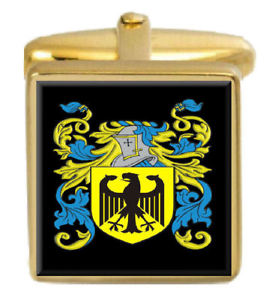 【送料無料】メンズアクセサリ― スコットランドカフスボタンボックスファミリークレストコートmaccorquodell scotland family crest coat of arms gold cufflinks engraved box