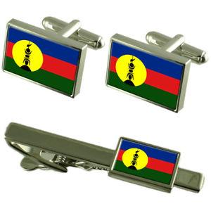 【送料無料】メンズアクセサリ― ニューカレドニアカフスボタンタイクリップマッチングボックスセット caledonia flag cufflinks tie clip matching box gift set