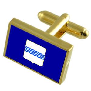 【送料無料】メンズアクセサリ― バジリカータイタリアゴールドフラッグカフスボタンボックスbasilicata region italy gold flag cufflinks engraved box