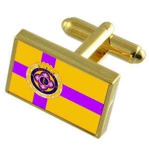 【送料無料】メンズアクセサリ― アルメニアゴールドフラッグカフスボタンボックスejmiatsin city armenia gold flag cufflinks engraved box
