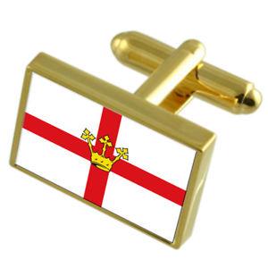 【送料無料】メンズアクセサリ― コブレンツドイツゴールドフラッグカフスボタンボックスkoblenz city germany gold flag cufflinks engraved box