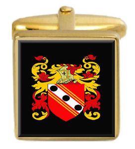 【送料無料】メンズアクセサリ― スコットランドカフスボタンボックスコートcannon scotland family crest surname coat of arms gold cufflinks engraved box