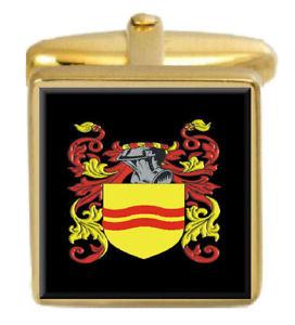 【送料無料】メンズアクセサリ― スコットランドカフスボタンボックスファミリークレストコートkirkcudbright scotland family crest coat of arms gold cufflinks engraved box