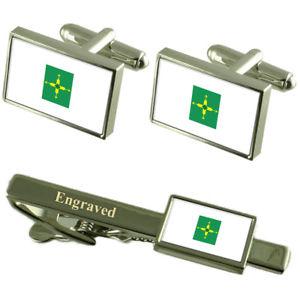【送料無料】メンズアクセサリ― カフスボタンタイクリップマッチングボックスfederal district flag cufflinks engraved tie clip matching box set