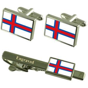 【送料無料】メンズアクセサリ― フラグカフスボタンタイクリップマッチングボックスthe far÷es flag cufflinks engraved tie clip matching box set